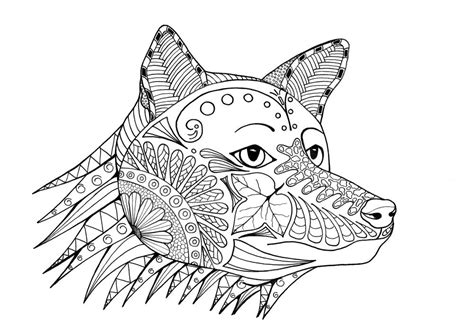 fox coloring page for adults fox a hunting adult coloring page favecrafts com