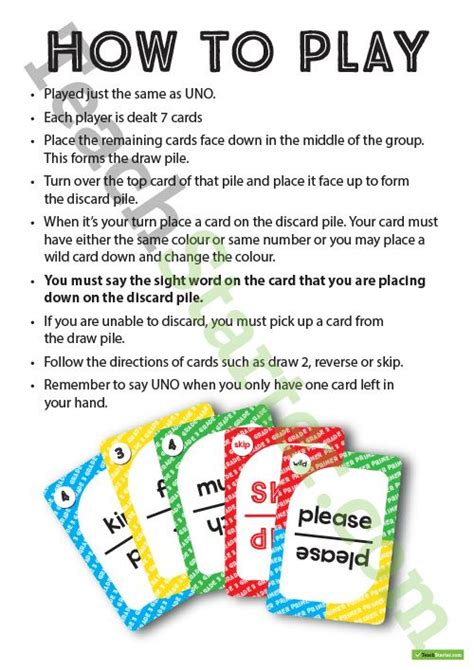 printable uno card game 167 best images about orton gillingham on pinterest