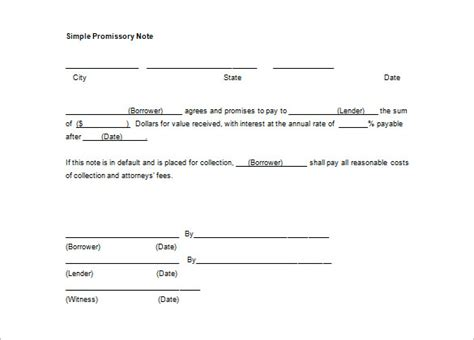 34 Promissory Note Templates Doc Pdf Free Premium Templates Simple Promissory Note Template