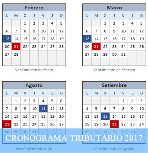 Calendario Tributario 2017 Excel Calendario Interactivo Sunat De Obligaciones Tributarias
