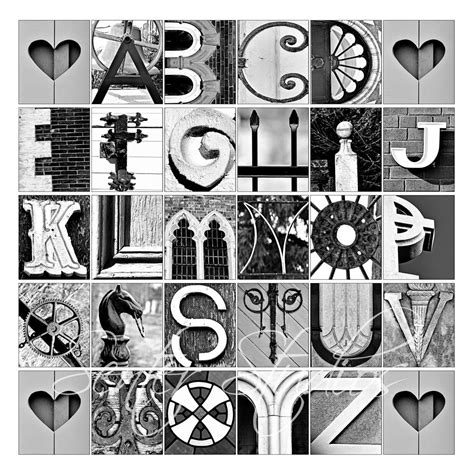 alphabet print abcs photo letter from architectural