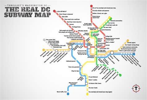 washington dc subway map thrillist just created the most accurate d c metro map curbed dc