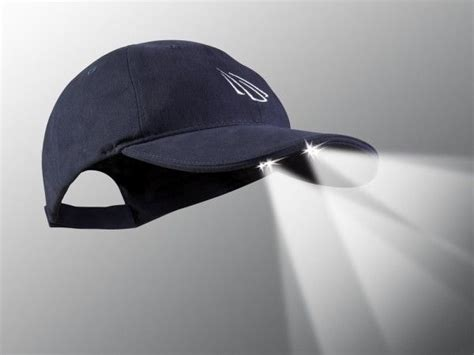 hats with lights in visor powercap led lighted hat navy gift ideas for others