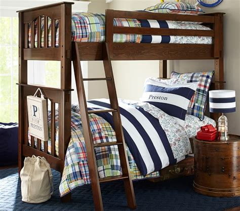 pottery barn loft bed with kendall twin over twin bunk bed pottery barn kids