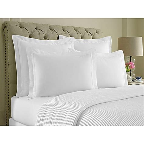 bed shams wamsutta 174 double flange pillow sham bed bath beyond