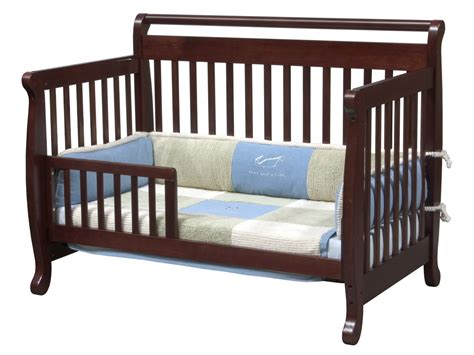 Babie Cribs Davinci Emily 4 In 1 Convertible Baby Crib In Cherry W Toddler Rail M4791c