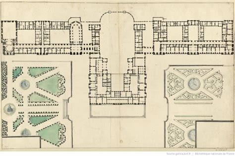 Chateau Plans by Plan Of Versailles 1685 Versailles Versailles