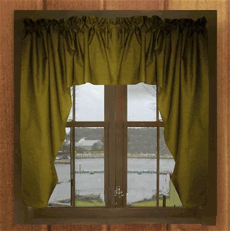 Olive Green Valance solid olive green swag window valance