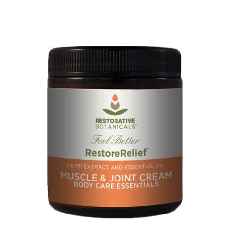 certified usa grown hemp restore relief joint by restorative botanicals