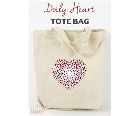 heart tote bag pattern tutorial doily heart tote bag sewing