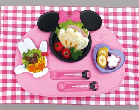 Nishiki Kasei Disney Minnie Mouse Lunch Plate Meal Set Nishiki Kasei Disney Minnie Mouse Lunch Plate Set Small