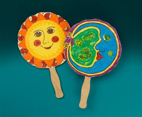Sun And Moon Myth Fan Craft Crayola