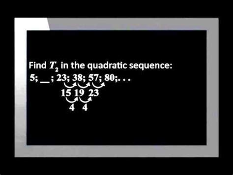 number pattern youtube quadratic number patterns youtube