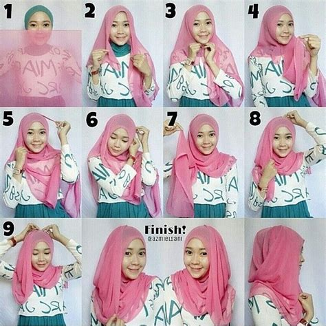 tutorial jilbab turban simpel 86 best images about tutorial hijab on pinterest