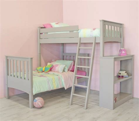 L Shaped Loft Bunk Beds Room Simplistic L Shaped Bunk Bed Designing Ideas And Plywood Flooring Feats Colourful