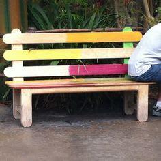 popsicle stick bench popsicle sticks on pinterest