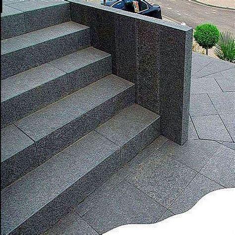 Granit Palisaden Anthrazit 10 X 25 Cm Natur Steine Org