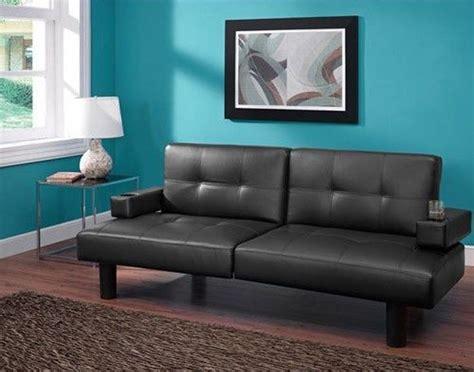 faux leather futon convertible sofa fold bed sleeper