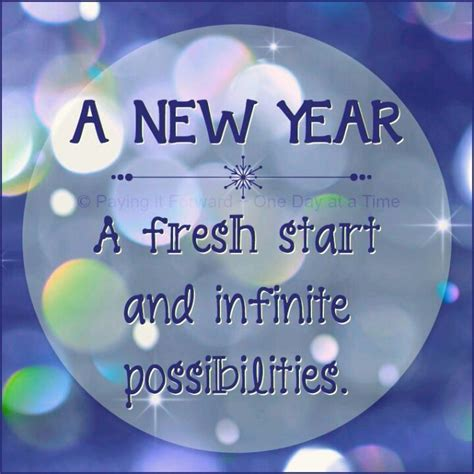 fresh new year a new year a fresh start and infinite possibilities