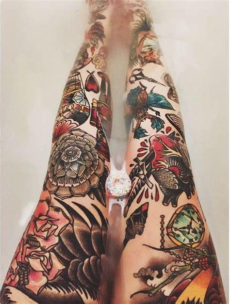 tattoo genre des collants avec motifs non des jambes tatou 233 es 22