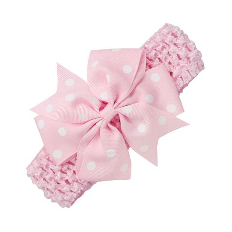 Babby Ribbon 2 baby rib dovetail satin ribbon polka dot bow elastic