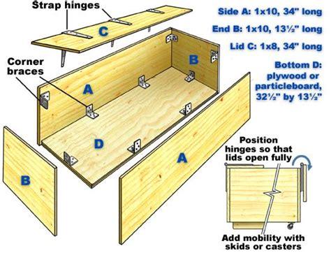 wood diy toy box plans blueprints  diy    build