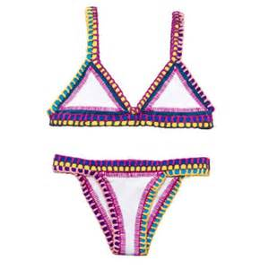 swimwear pink yellow blue colorful swimwear