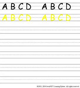 writing practice upper case abcd grade 1 english