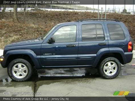 jeep liberty limited interior patriot blue pearlcoat 2002 jeep liberty limited 4x4