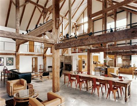 renovated 1800s new york barn interiors