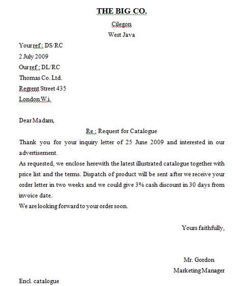 contoh surat bisnis bahasa inggris semi block style surat box