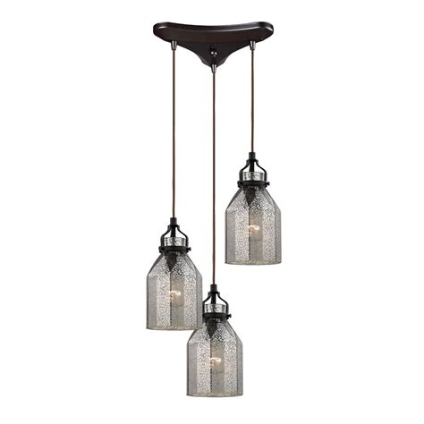 Multi Glass Pendant Lights Multi Light Pendant Light With Mercury Glass And 3 Lights 46009 3 Destination Lighting