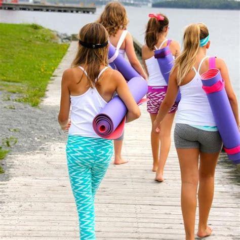 young teen girls in yoga pants teen yoga