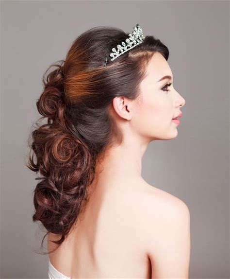 half up half wedding hairstyles 2016 most beautiful half up half curly wedding hairstyles