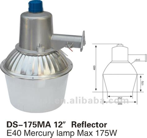 mercury vapor l fixture 175w 65w mercury vapor warehouse farm sidewalk road l