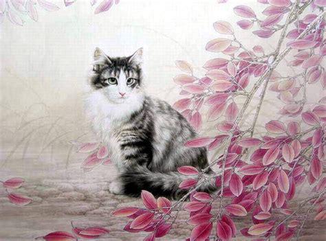 painting kitten kitten paintings xing chengai