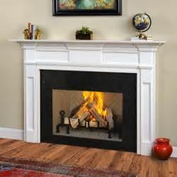 jeffersonian traditional wood fireplace mantel