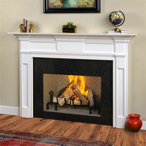 jeffersonian traditional wood fireplace mantel