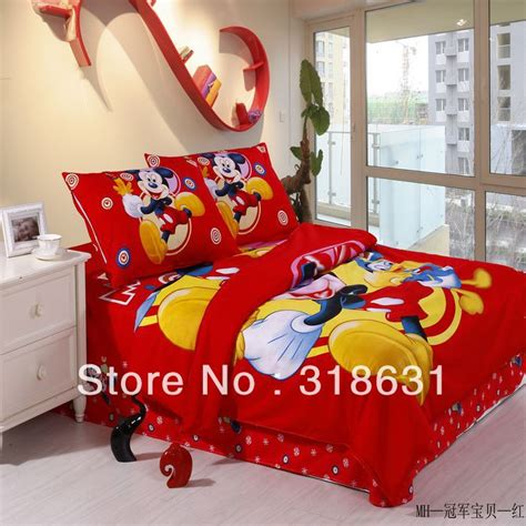 Mickey Mouse Bed Sets Shop Popular Mickey Mouse Bedroom Sets From China Aliexpress