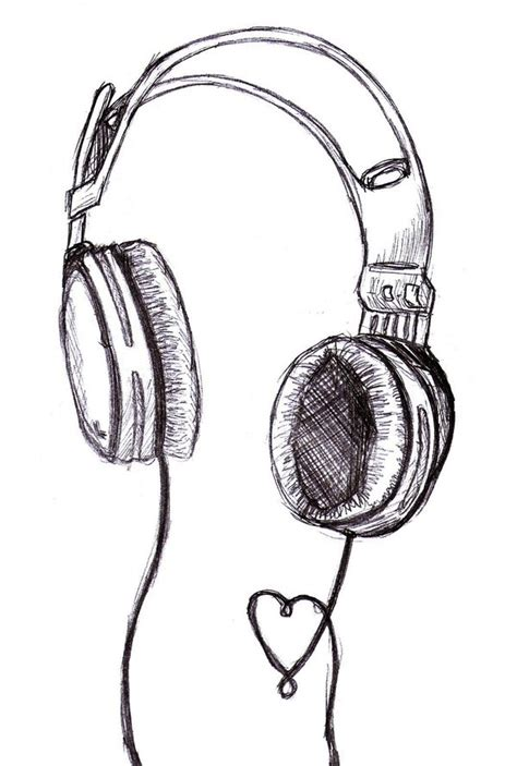 imgs for gt easy music drawing ideas headphones sketch by vegsta on deviantart