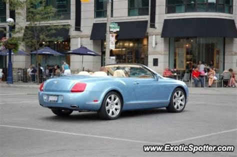 bentley canada bentley continental spotted in toronto canada on 08 08 2007