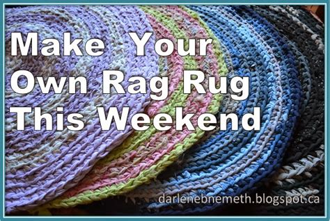 Make Rag Rug by Let It Shine Make Your Own Rag Rug This Weekend