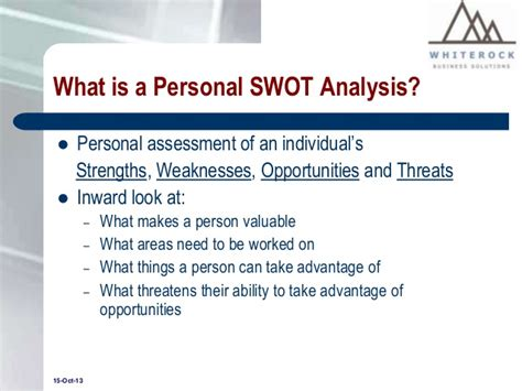 personal swot analysis a tool for assessing employees