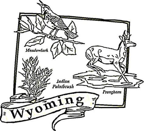 Wyoming Coloring Pages wyoming map coloring page supercoloring