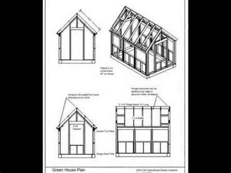 wood frame green house plans youtube