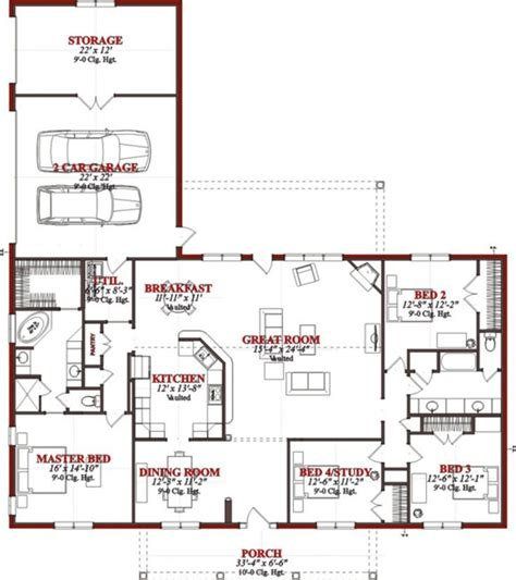 free ranch house plans collections of open layout ranch house plans free home