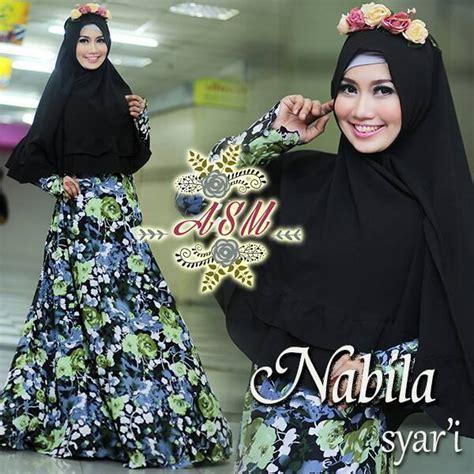 Nabila Gamis Syar I nabila green baju muslim gamis modern