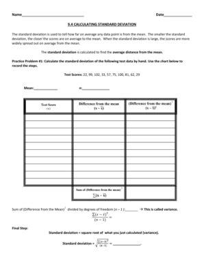 Standard Deviation Worksheet by Worksheet Standard Deviation Worksheet Caytailoc Free