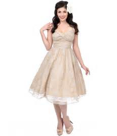 vintage swing dresses sale stop staring 1950s style taupe lace darla swing dress