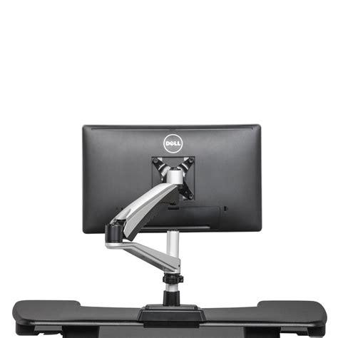 monitor arm glass desk single monitor arm